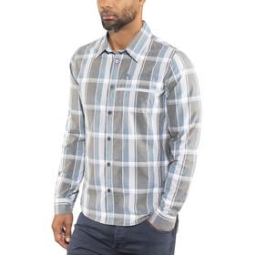 Shimano Transit Check Longsleeve Button Up Shirt Men aegean blue